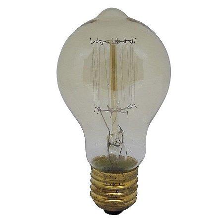 Lâmpada Filamento de Carbono 40w 220v E27 A19 Retrô