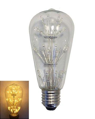 Lâmpada Filamento em LED 3w ST64S 3G Vidro Transparente E27 - Bivolt