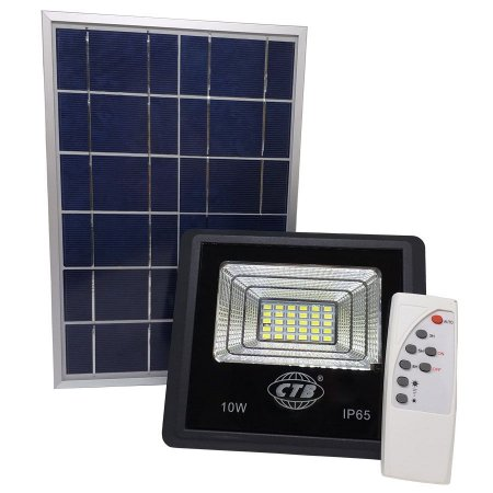 Refletor Solar Led Holofote 10W Branco Frio