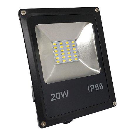 Refletor Led SMD 20w Diversas Cores IP66 Bivolt