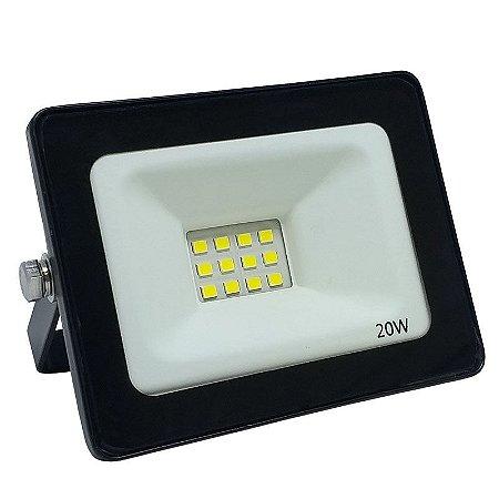 Refletor Led SMD Slim 20w Branco Frio IP66 Bivolt