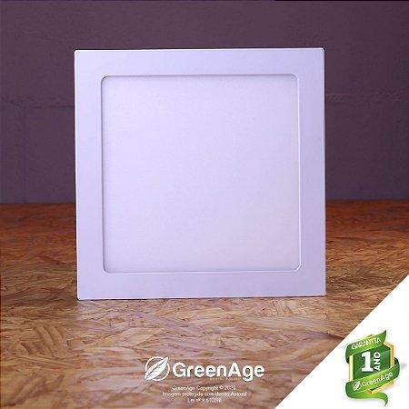 Plafon Led Embutir Quadrado 18w Branco Quente, Neutro e Frio 110-220v