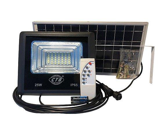 Refletor Solar Led Holofote 25W Branco Frio