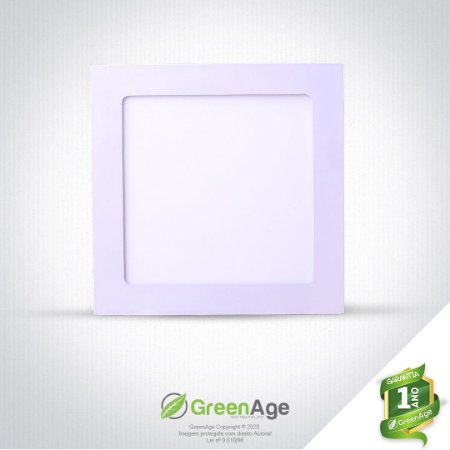Plafon Led Embutir Quadrado 12w Branco Quente, Frio e neutro 110-220v