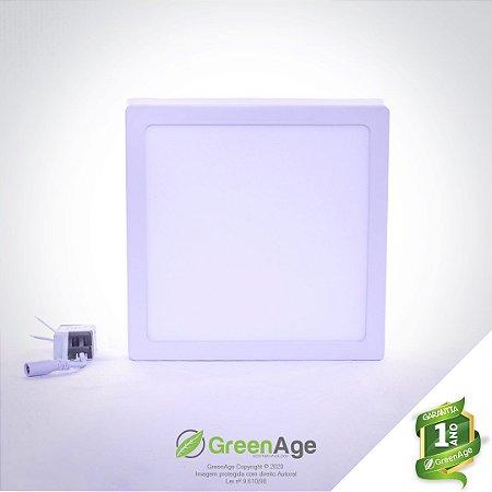 Plafon Led Sobrepor 18w Quadrado Branco Frio, Neutro e Quente 110-220v