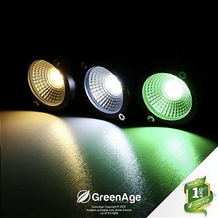 Espeto Led 5w Cob Verde, Branco Frio e Quente Bivolt
