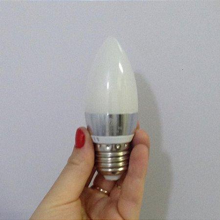Lâmpada Led Vela E27 3w Branco Frio e Branco Quente Leitosa Fosca