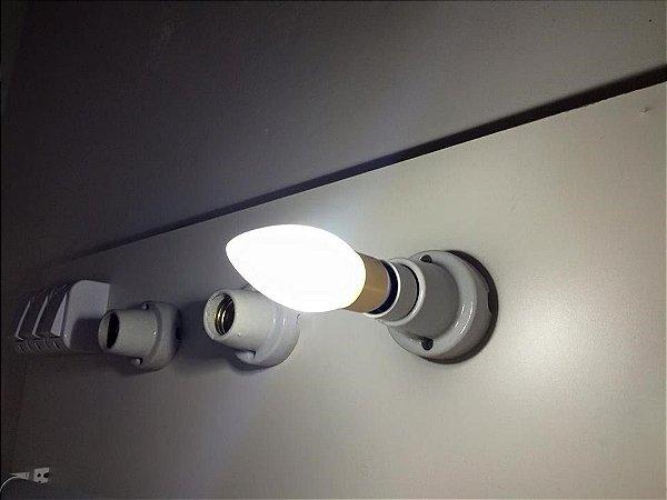 Lampada Led E14 Para Lustre.Lampada Led Vela E14 4w Branco Frio Leitosa Fosca Lustres