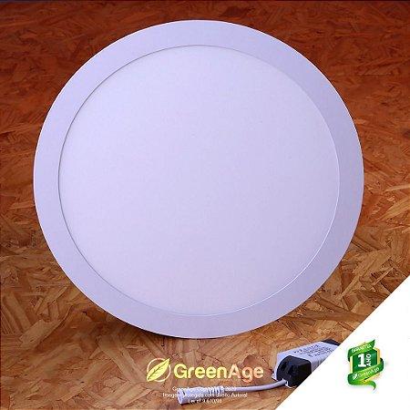 Plafon Led Embutir Redondo 25w Branco Quente e Frio 110-220v