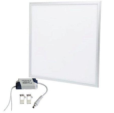 Luminária Plafon Led 48w 60x60 Embutir 110-220V