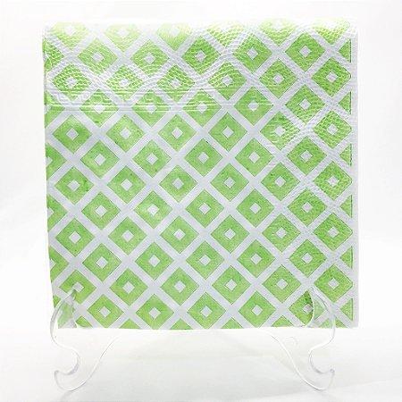 Guardanapo de papel Verde geométrico - 33x33cm (10 unidades)