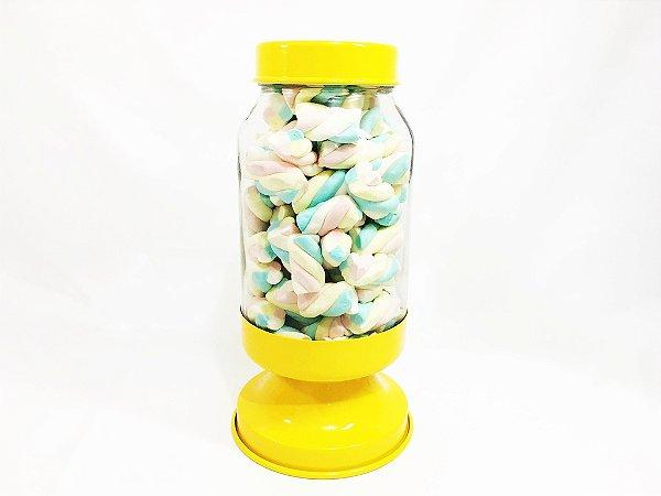 Baleiro de vidro base amarela - 3,250 ml