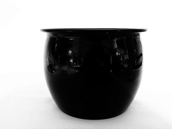 Cachepot redondo caldeirão preto - 17cm A x 22 cm D