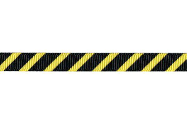 Fita decorada listras Amarelo/Preto (22,5 metros)