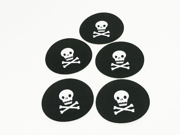 Adesivo festa Piratas - 6 cm (10 unidades)