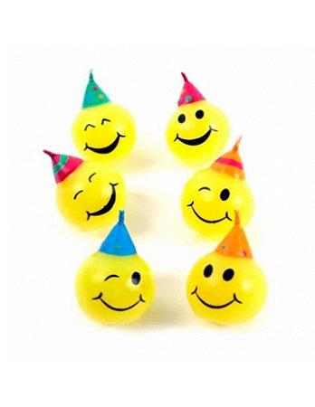 Vela de aniversário - Emoji Smiley (6 unidades)
