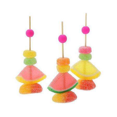 Pick/Pin para doces Bola - 6 cores (50 unidades)