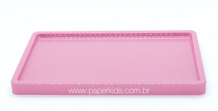 Bandeja para doces - cor Rosa (30x18x2cm)