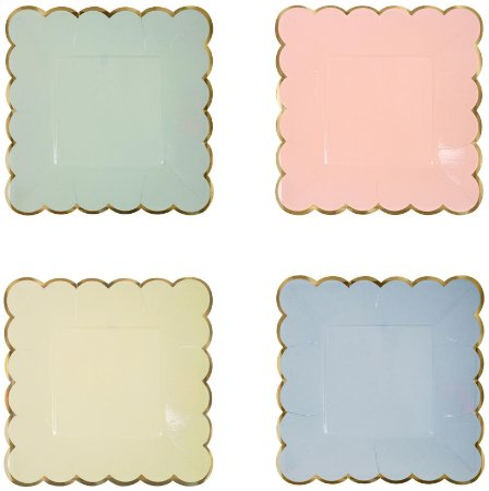 Pratos de papel sortidos Candy Colors - Meri Meri (8 unidades)