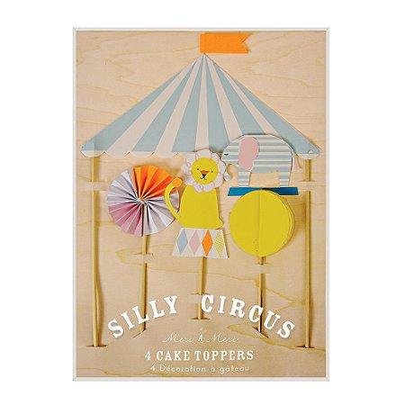 Topo de Bolo Silly Circus - Meri Meri (4 un)