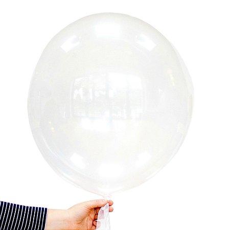 """Balão transparente clear - Bubble 24""""- 61cm (unidade)"""