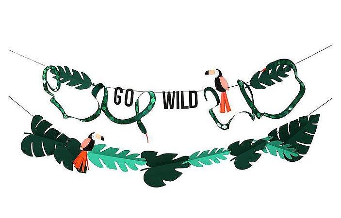 Guirlanda/painel de festa safari - Go Wild (Meri Meri)