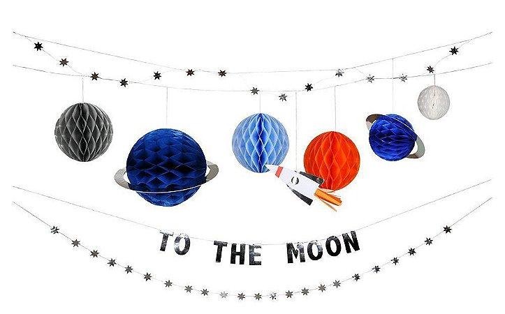 Guirlanda/painel de festa Astronauta - Meri Meri