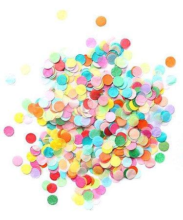 Confetes de papel de seda - 2.5 cm (10g) *ESCOLHA UMA COR*