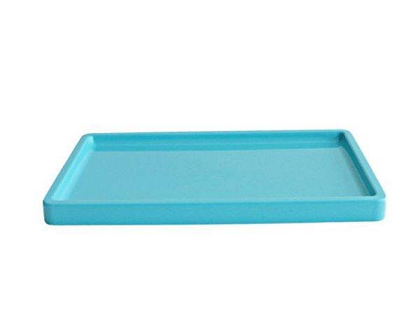 Bandeja para doces - cor Tiffany (30x18x2cm)