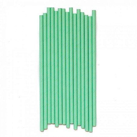 Canudo de papel liso - Verde menta (20 unidades)