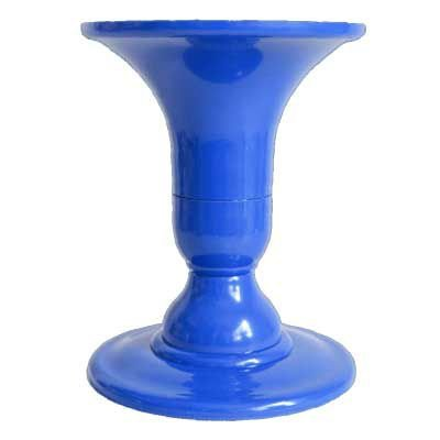 Vaso para planta artificial - Azul Bic (22 cm altura)