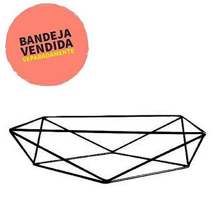 Base aramada triangular para bandeja - Preto