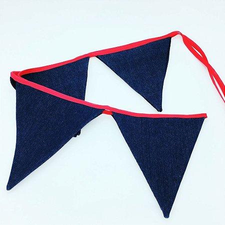 Bandeirola de tecido - JEANS (8 un)