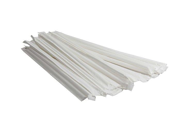 Canudo de papel EMBALADO INDIVIDUALMENTE - 50 unidades