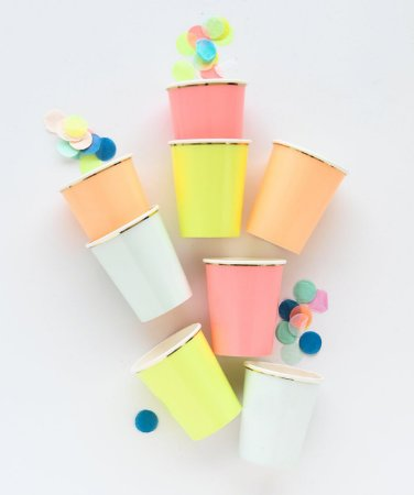 Copos de papel sortidos - Meri Meri (8 un)
