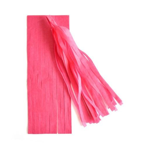 Guirlanda / Cauda Balão Franjas - Pompom Pink (5un)