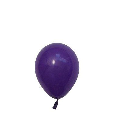 """Mini balão látex 5"""" - Roxo (unidade)"""
