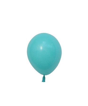 """Mini balão látex 5"""" - Azul Caribe (unidade)"""