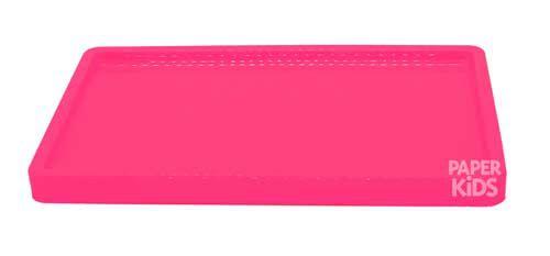 Bandeja para doces - Rosa Neon (30x18x2cm)