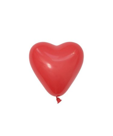 """Mini balão Coração 6"""" - Vermelho (1 unidade)"""