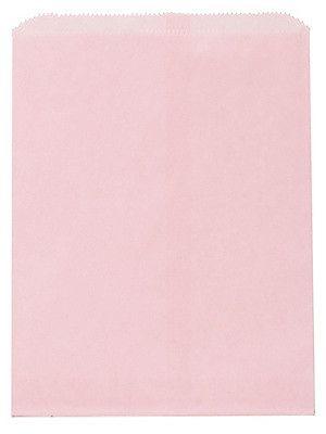 Saquinho de papel listras - Rosa Candy 13x18 cm (10 unidades)