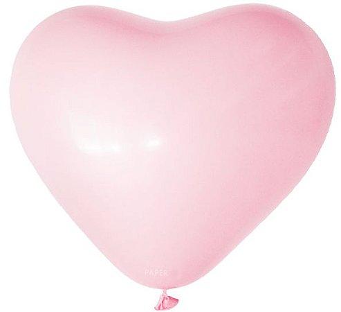 """Balão Coração gigante 36"""" - Rosa Claro (unidade)"""