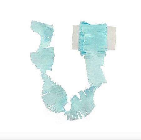 Cauda / Franja para balão - Azul claro (5 cm x 3 metros)