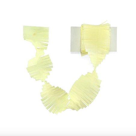 Cauda / Franja para balão - Amarelo claro (5 cm x 3 metros)