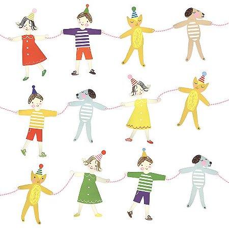 Guirlanda/bandeirola de festa - Crianças