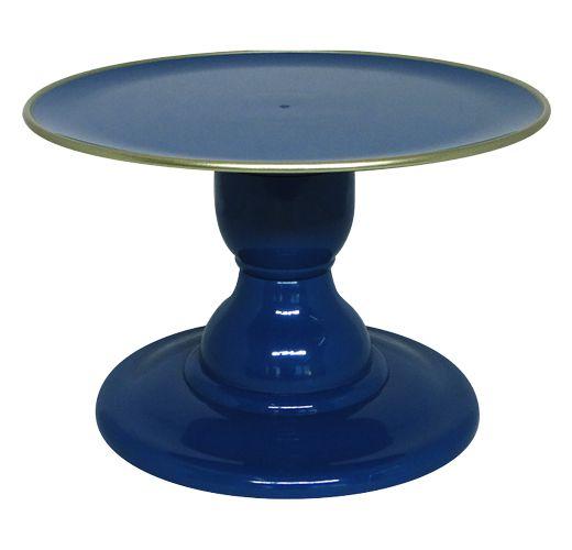 Boleira Azul Petróleo - Filete Dourado (13.5 cm h x 22cm)