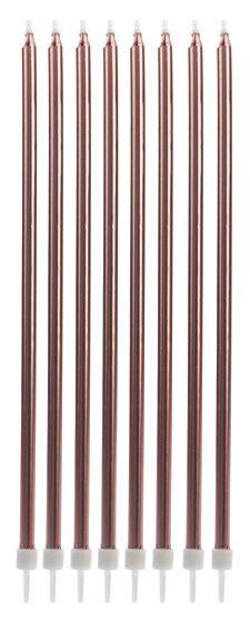 Vela longa - Rose Gold (8 velas com pezinhos)