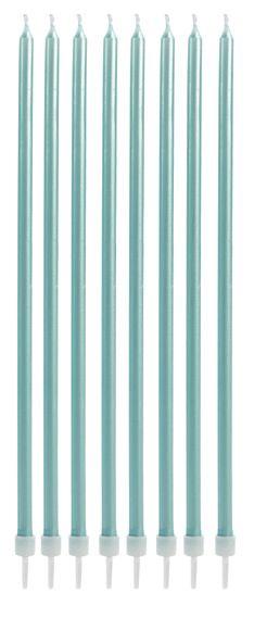 Vela longa - Azul claro (8 velas com pezinhos)