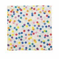 Guardanapo de papel Confetes coloridos - 33cm (20 un)