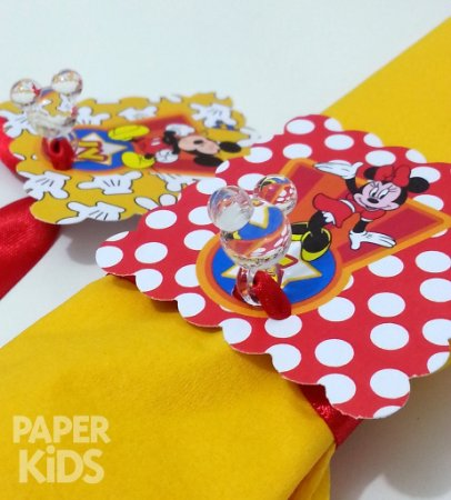 Aplique acrílico - Festa Mickey (50 unidades)